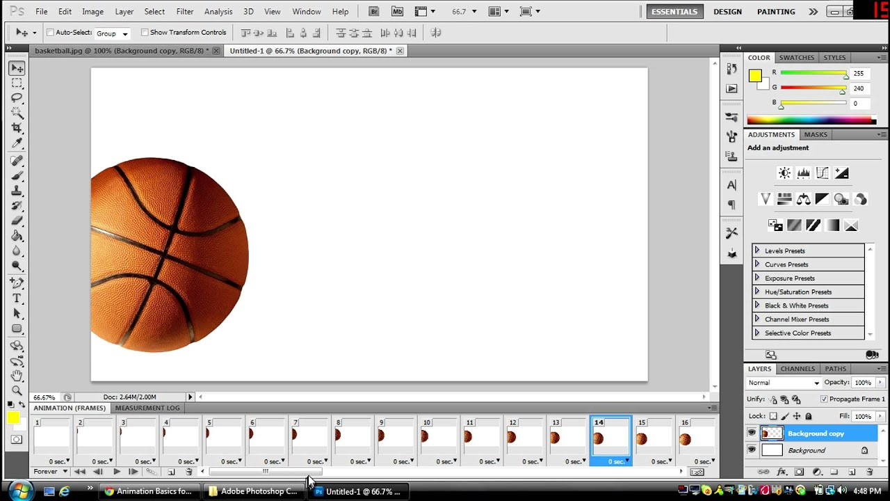 how to create simple adobe flash animation