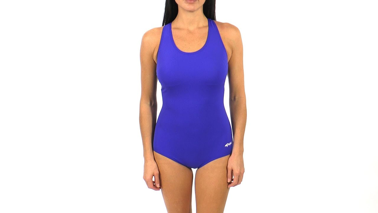 e2531bf3d5f3c Ocean by Dolfin AquaShape Conservative Lap Suit Solid Polyester ...