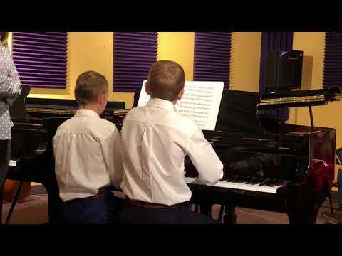 Landon Hart and Andrew Sorensen Play 'Journey to the Manger'