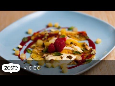 Comment cuisiner une recette de lasagne dessert l 39 ananas zeste youtube - Comment cuisiner une andouillette ...
