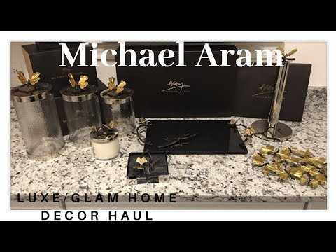 HUGE INSPIRE ME HOME DECOR I MICHAEL ARAM LUXURY/GLAM HOME DECOR HAUL - SPRING 2018