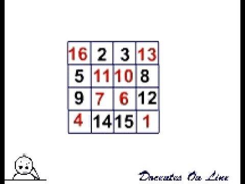 Cuadrado Mágico 4x4 - YouTube