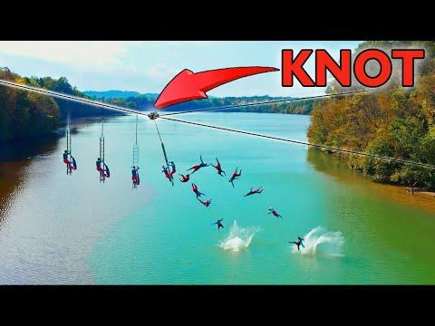 Extreme Zipline Catapult over 80m Canyon I DD Squad Ep5