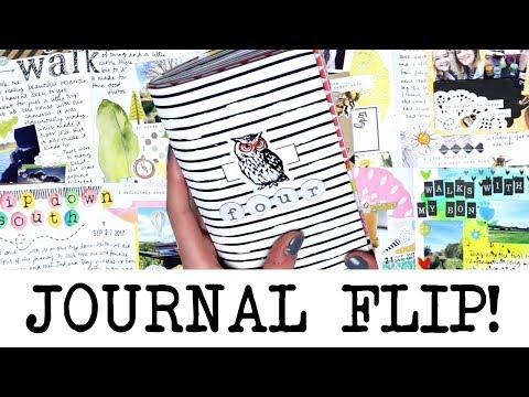 Finished Creative Journal Flip Through!  'FOUR' | MyGreenCow
