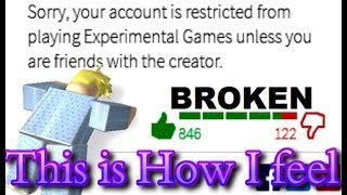 Experimental Mode - The Death Of Games On Roblox?