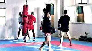 Treino Muay Thai - treino 10seg, plastron perna, potência saco