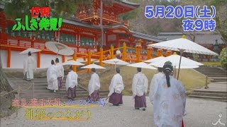 土曜よる9時 『世界ふしぎ発見!』 5月20日放送予告。 奈良の春日大社と...
