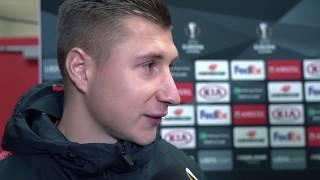 Willi Orban und Ralf Rangnick im Interview mit DAZN vor Leipzig vs Trondheim