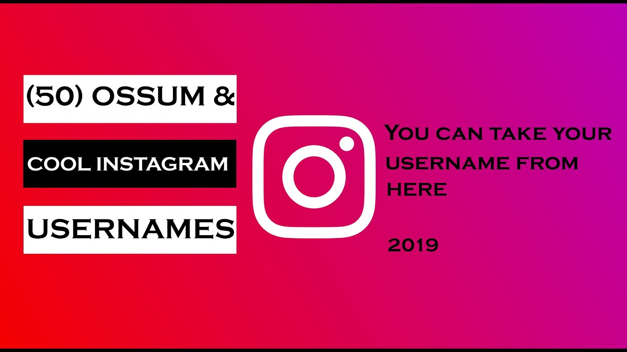 Instagram usernames ideas: |50 awesomw & cool Instagram username |Instagram  username suggestions