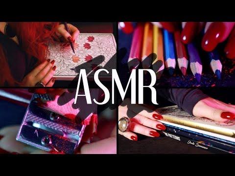 ASMR ✏️ 2 HOURS + 🙌🏼  NO TALKING 📕 Coloring In / Sleepy Layering