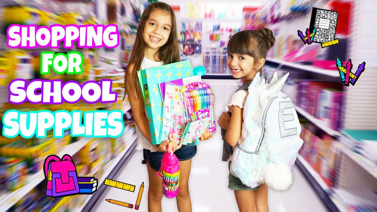 e9e9fc9c635 SHOPPING FOR SCHOOL SUPPLIES AT JUSTICE   TARGET! HUGE Back To School  Supplies Shopping   Haul
