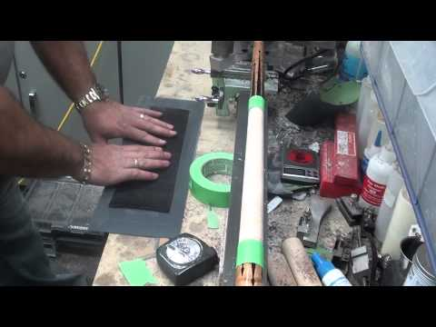 Installing a Leather Wrap on a pool cue part 1