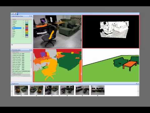 An Interactive Approach to Semantic Modeling of Indoor Scenes with an RGBD Camera