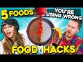 5 Food Hacks You Didn't Know Existed (Ft. YouTubers) | You're Doing It Wrong
