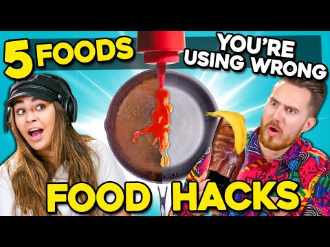 5 Food Hacks You Didnt Know Existed (Ft. YouTubers) | You're Doing It Wrong