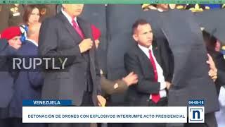 Vídeo de como abordan a Nicolás Maduro en presunto atentado en su contra