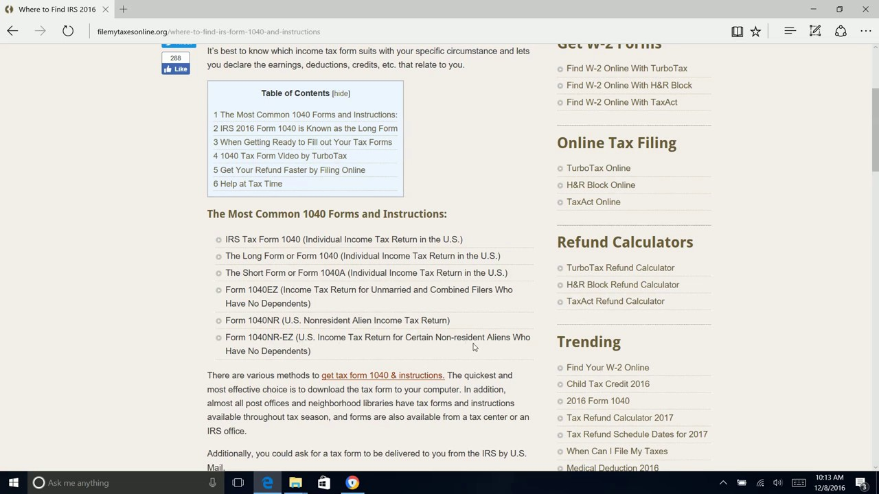 Irs 2016 form 1040 for 2017 filing youtube irs 2016 form 1040 for 2017 filing falaconquin
