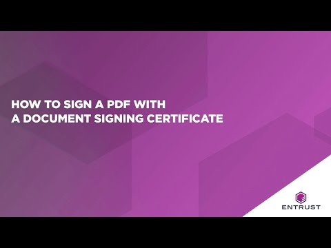 How To Sign A PDF With A Document Signing Certificate