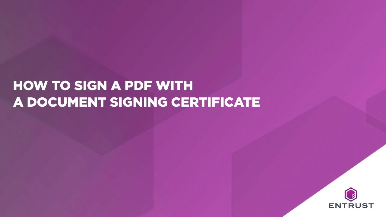 How to sign a pdf with a document signing certificate youtube how to sign a pdf with a document signing certificate xflitez Choice Image