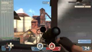 Kid raging in Team Fortress 2 2fort omg With Invisible Spy headshot