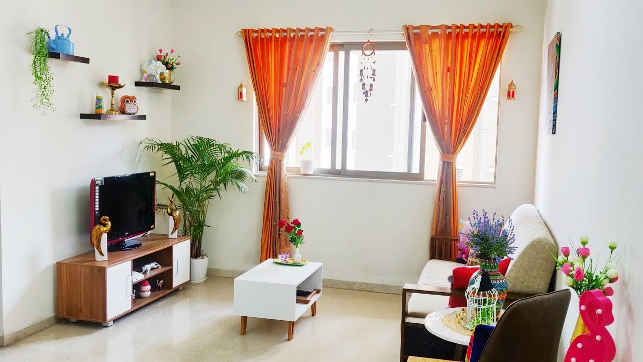 2019 Indian Living Room Tour | Small Living Room Decor ...