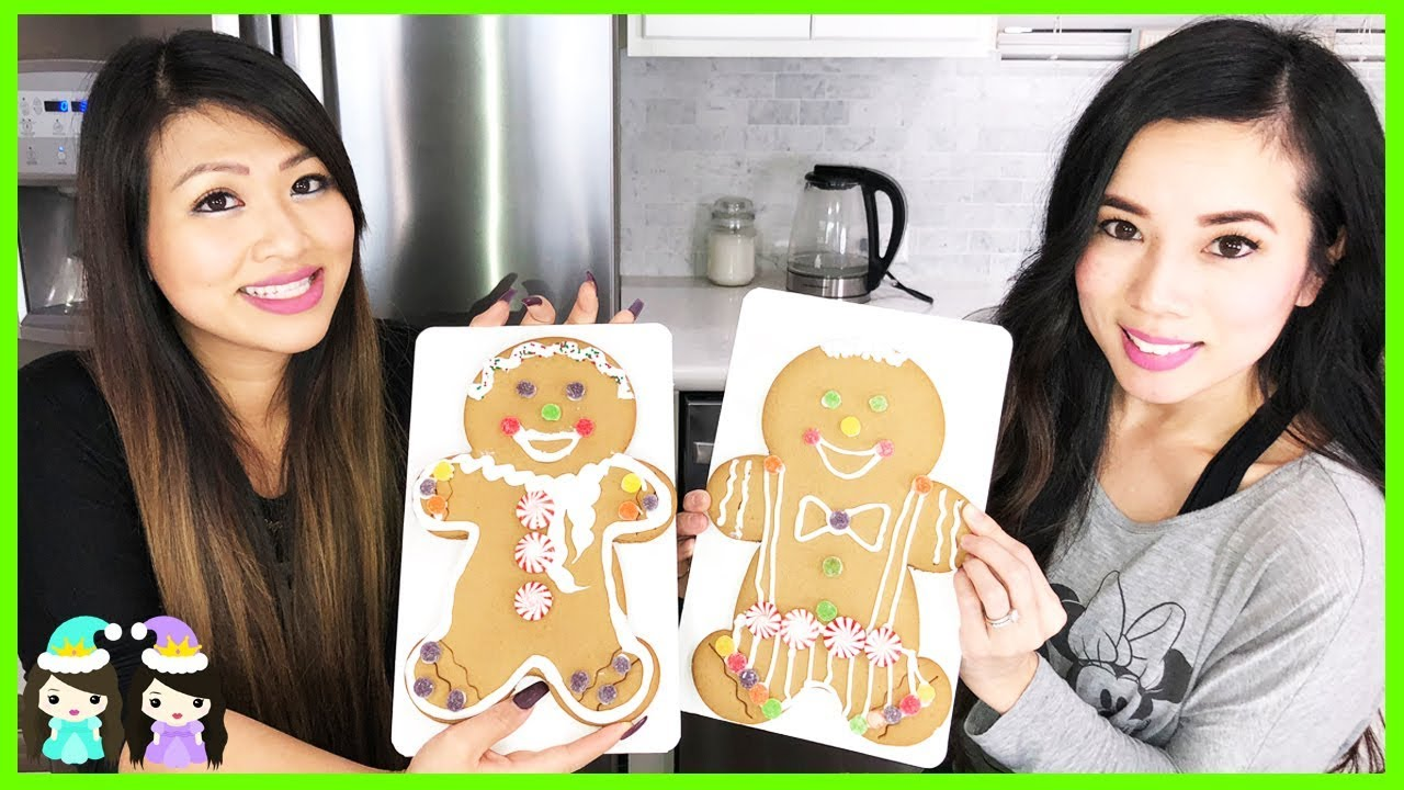 Giant Gingerbread Men Decorating Christmas Cookies With Princess Toysreview