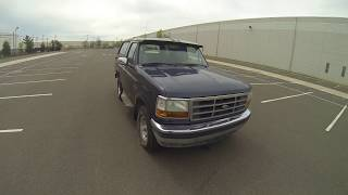 Review for 1994 Ford Bronco full size with removable hard top test-drive & walk-around