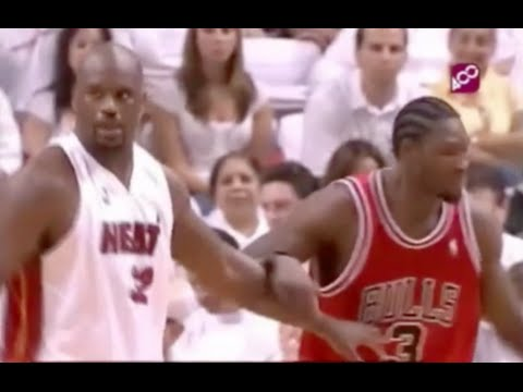 Ben Wallace Defense on Shaq - 0 pts in 4th qtr - 2007 1st Rd Game 4