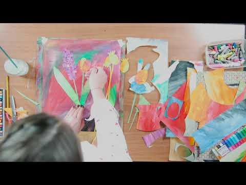 Как сделать коллаж из цветной бумаги своими руками