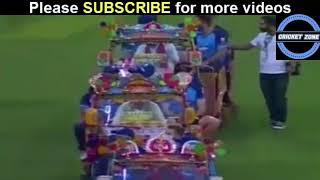World XI Dabbang entry to Loahore cricket Stadium in special auto Rickshaw | live streaming