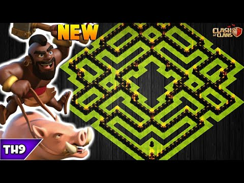 NEW TOWN HALL 9 FARMING/TROPHY BASE 2019! TH9 HYBRID BASE WITH REPLAYS!! - CLASH OF CLANS(COC)