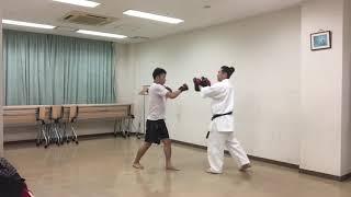 武道空手の基本〜構え・前拳のバランス〜蹴りの間合