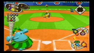 Mario Superstar Baseball Exhibition Game 1 - Waluigi Mystiques VS Jr. Fangs