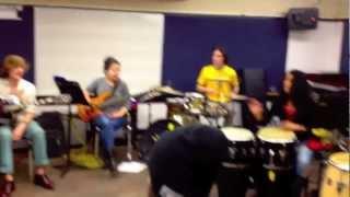 Afro-Pop Class at Berklee plays Sol Amarfio