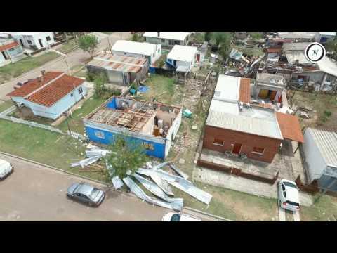 Así quedó la ciudad de San Carlos luego del temporal