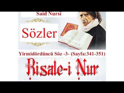 Risale-i Nur, Sözler, Yirmidördüncü Söz III , Bediüzzaman Said Nursî