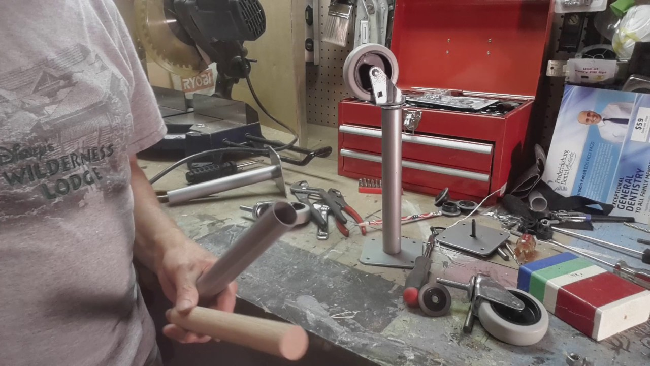 Installing Casters On Hollow Metal Table Legs