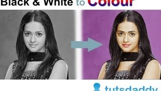 Converting Black and White Photo to Colour Photo - Photoshop Tutorial by tutsdaddy.com