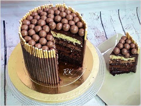 comment-faire-un-gâteau-cacao-chocolat,-malteser-mikado