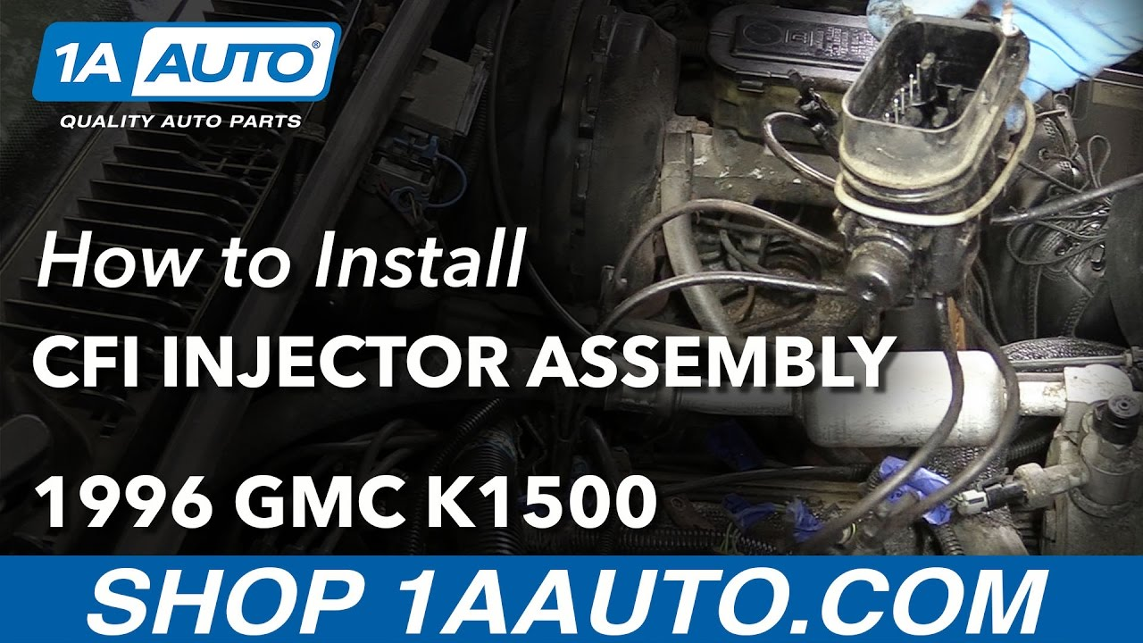 How to Install Replace CFI Injector Assembly 1996 GMC Sierra V8 5.7L ...