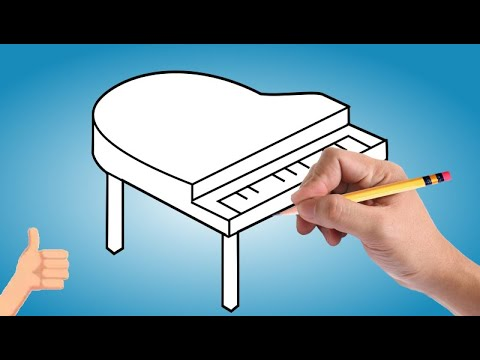 How To Draw A Little Piano Tutorial Easy Piano Drawing Step By Step