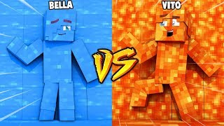 LAWA VS WODA ZABAWA W CHOWANEGO W MINECRAFT (Hide and Seek) | Vito vs Bella