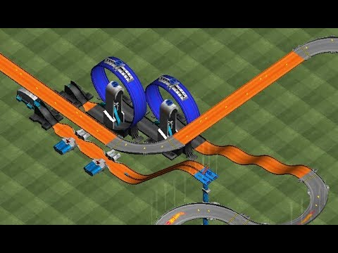 HOT WHEELS TRACK BUILDER GAME Torque Twister / Twinduction / Ballistik Sets Gameplay Video