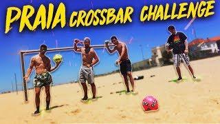 CROSSBAR CHALLENGE NA PRAIA ! C/BOLAS E NERFS VORTEX AERO !