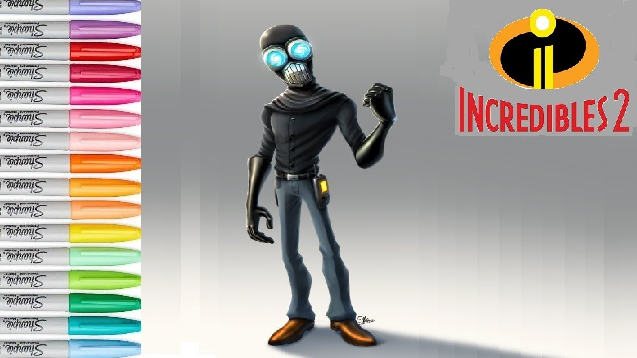 Screenslaver Disney Pixar Incredibles 2 Coloring Pages