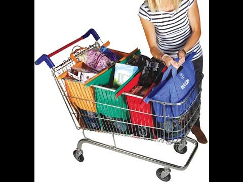 Trolley Bags - reusable shopping bags with a difference! - YouTube