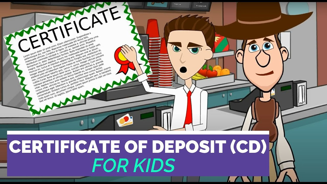 What Is A Certificate Of Deposit Or Cd Easy Peasy Finance For Kids