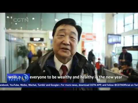 Families cross Taiwan Strait for the New Year