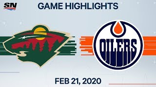 NHL Highlights | Wild vs. Oilers - Feb. 21, 2020