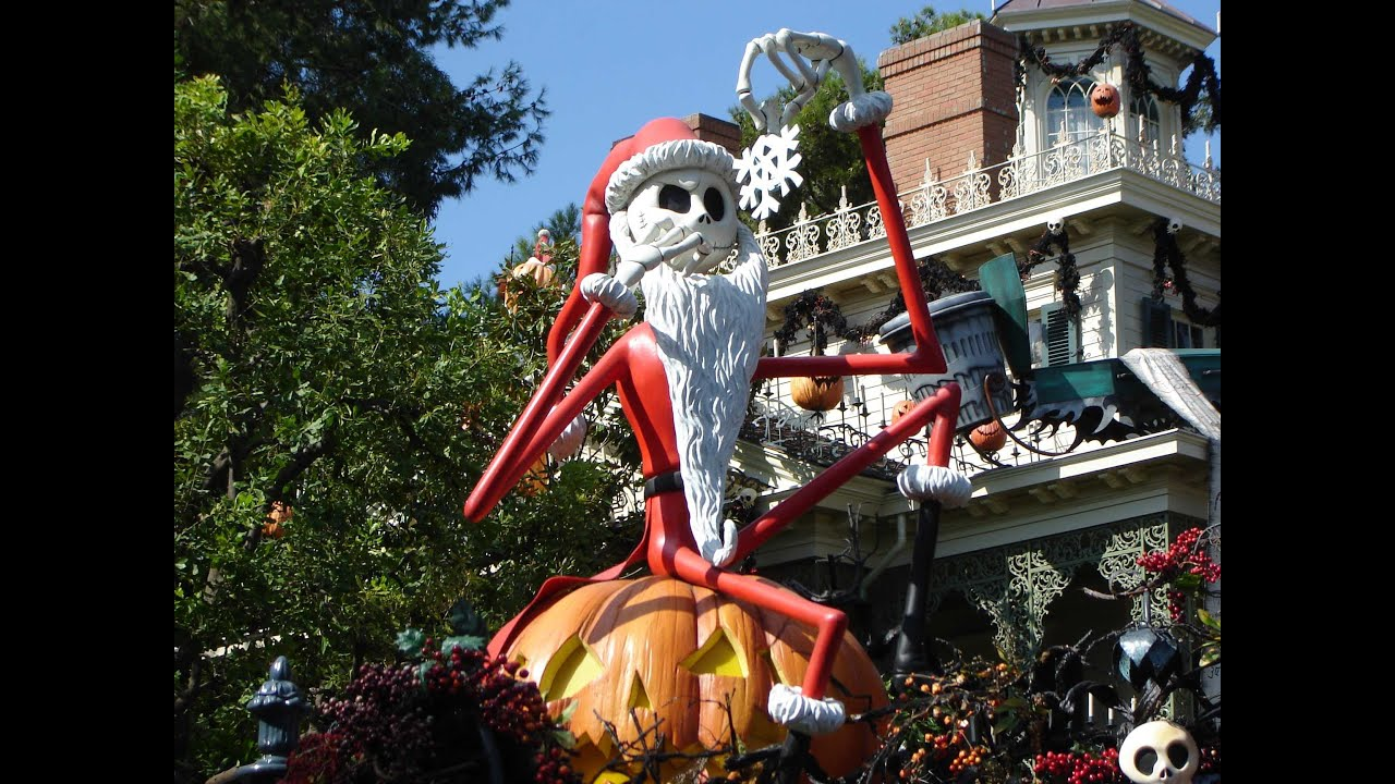 haunted mansion holiday disneyland youtube - Haunted Mansion Nightmare Before Christmas